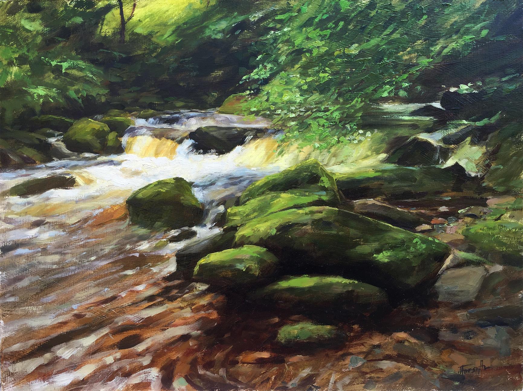 River Lyn Oil Painting Devon