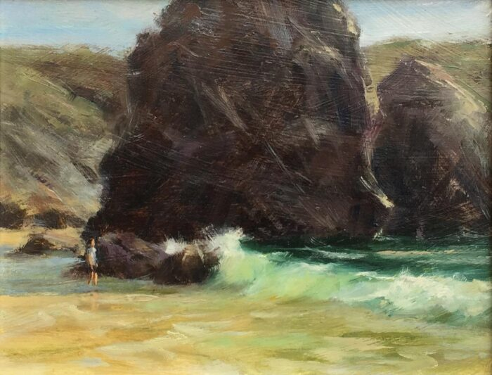 Kynance cove oil painting