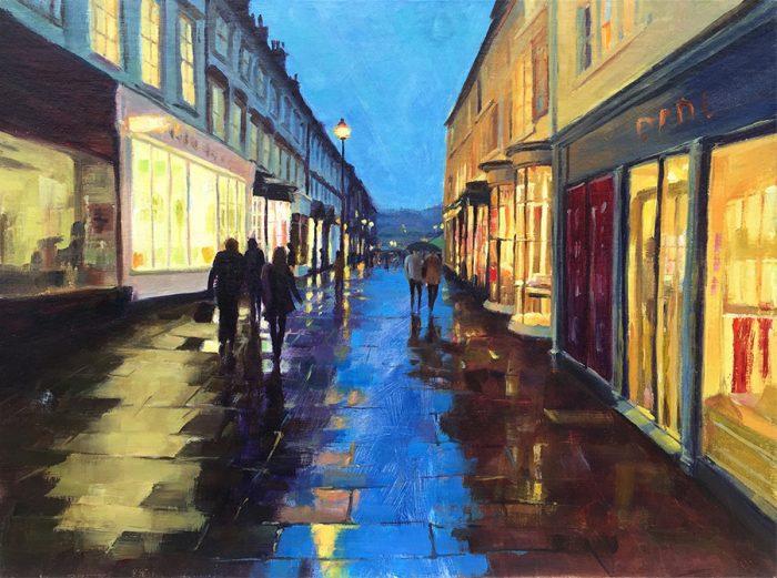 Twilight in Bath oil painting